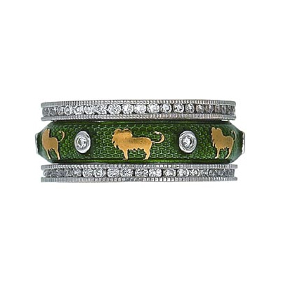 Hidalgo Stackable Rings Wild Life Collection Set  (7-515 & 7-515G)