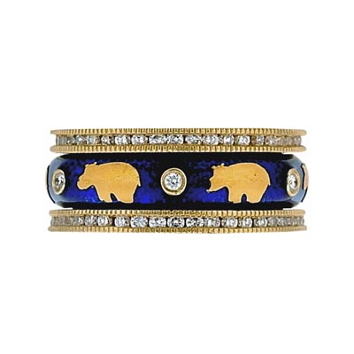 Hidalgo Stackable Rings Wild Life Collection Set  (7-516 & 7-516G)
