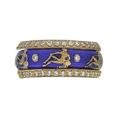 Hidalgo Stackable Rings Zodiac Aquarius Collection Set  (7-519 & 7-519G)