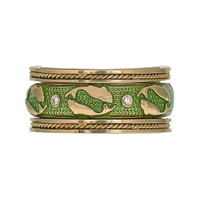 Hidalgo Stackable Rings Zodiac Pisces Collection Set  (7-520 & 7-520G)
