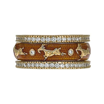 Hidalgo Stackable Rings Zodiac Capricorn Collection Set  (7-521 & 7-521G)