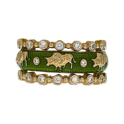 Hidalgo Stackable Rings Zodiac Taurus Collection Set  (7-522 & 7-522G)