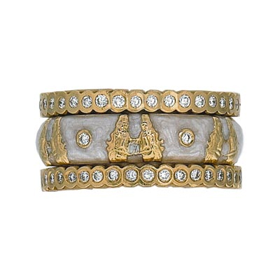 Hidalgo Stackable Rings Zodiac Gemini Collection Set  (7-523 & 7-523G)