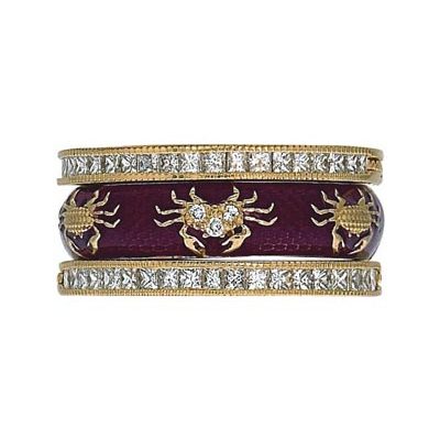 Hidalgo Stackable Rings Zodiac Cancer Collection Set  (7-524 & 7-524G)