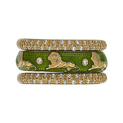 Hidalgo Stackable Rings Zodiac Leo Collection Set  (7-525 & 7-525G)