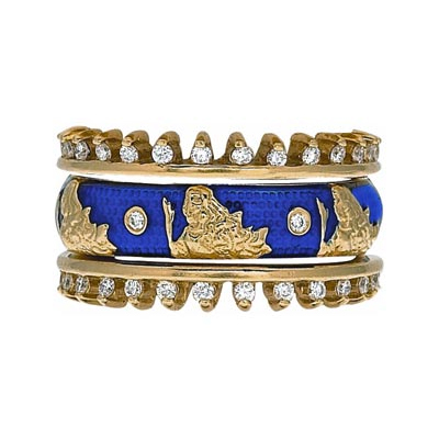 Hidalgo Stackable Rings Zodiac Virgo Collection Set  (7-526 & 7-526G)