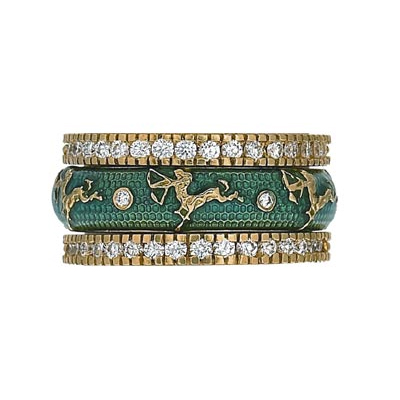 Hidalgo Stackable Rings Zodiac Saggitarius Collection Set  (7-528 & 7-528G)