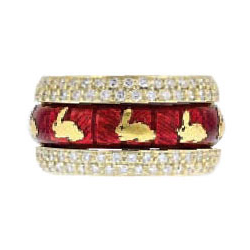 Hidalgo Stackable Rings Garden Life Collection Set  (7-580 & 7-580G)