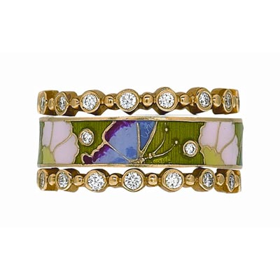 Hidalgo Stackable Rings Garden Life Collection Set  (7-581 & 7-581G)