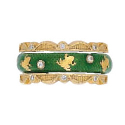 Hidalgo Stackable Rings Garden Life Collection Set  (7-583 & 7-583G)