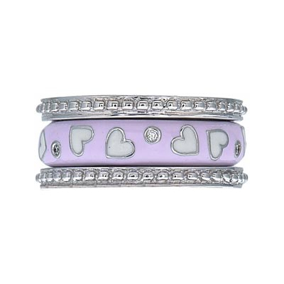 Hidalgo Stackable Rings Heart Collection Set  (7-640 & 7-640G)