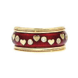 Hidalgo Stackable Rings Heart Collection Set  (7-641 & 7-641G)