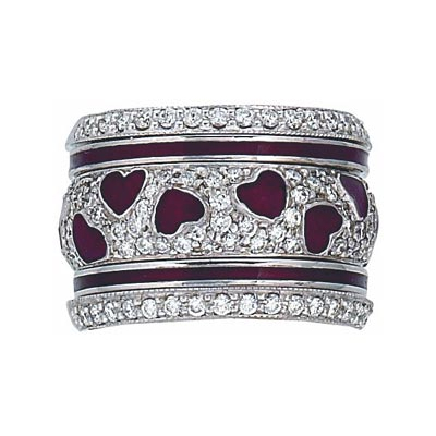 Hidalgo Stackable Rings Heart Collection Set  (7-642, 7-642G & 7-642G2)
