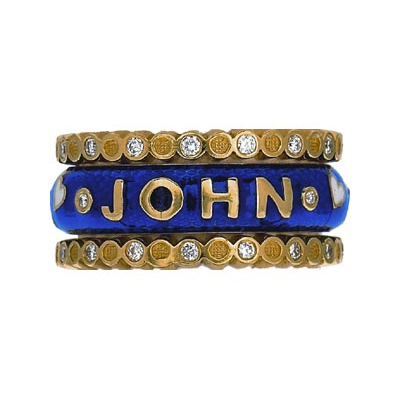 Hidalgo Stackable Rings Personalized Collection Set (RS7747 & RS6467)