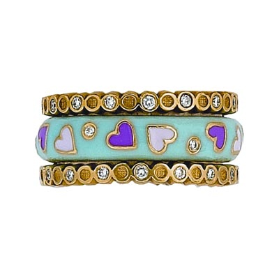 Hidalgo Stackable Rings Pastel Collection Set (RS7743 & RS6467)