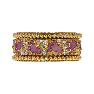 Hidalgo Stackable Rings Pastel Collection Set (RS7951 & RS7463)
