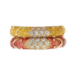 Hidalgo Stackable Rings Pastel Collection Set (RB4078)