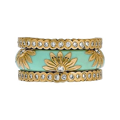 Hidalgo Stackable Rings Pastel Collection Set (RS6028 & RN2017)