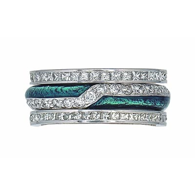 Hidalgo Stackable Rings Art Deco Collection Set (RS6079 & RN2007)