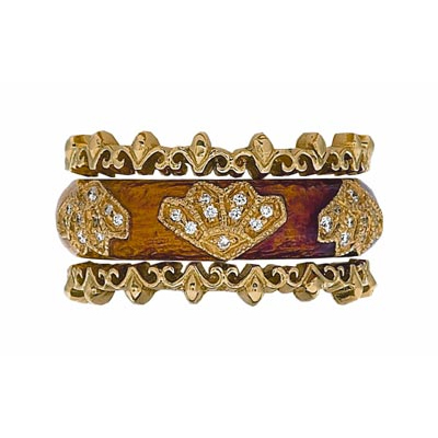 Hidalgo Stackable Rings Art Deco Collection Set (RR1488 & RS7752)