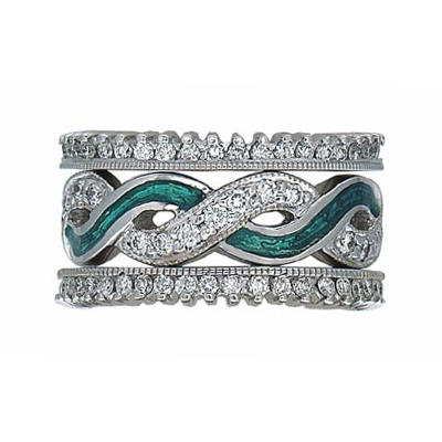 Hidalgo Stackable Rings Art Deco Collection Set (RR1549 & RR1359MIL)
