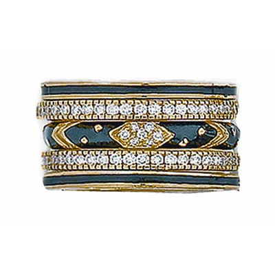 Hidalgo Stackable Rings Art Deco Collection Set (RJ3011, RB5021 & RB480)