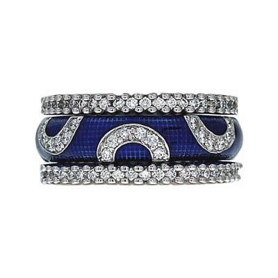 Hidalgo Stackable Rings Art Deco Collection Set (RS7941 & RN2006)