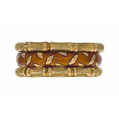 Hidalgo Stackable Rings Art Deco Collection Set (RR1331 & RM2056)