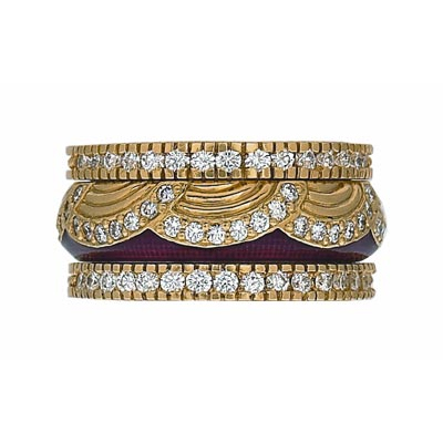 Hidalgo Stackable Rings Art Deco Collection Set (RS7084 & RN2003)