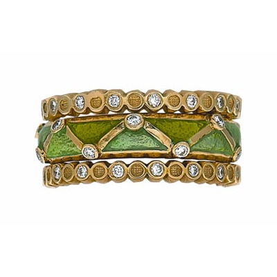 Hidalgo Stackable Rings Art Deco Collection Set (RS6367 & RS6463)