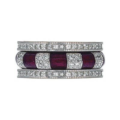 Hidalgo Stackable Rings Art Deco Collection Set (RR1043MIL & RN2007MIL)