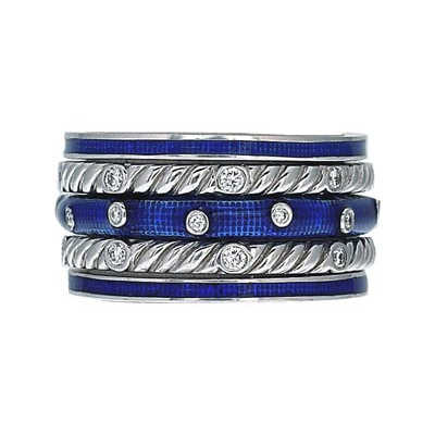 Hidalgo Stackable Rings Art Deco Collection Set (RS7045, RB5021 & RR1247)