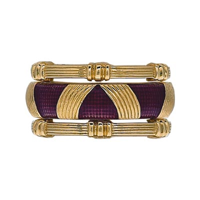 Hidalgo Stackable Rings Art Deco Collection Set (RS7103 & RS7098)