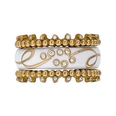 Hidalgo Stackable Rings Scrolls Collection Set (RS7786 & RS7105)