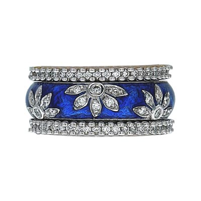 Hidalgo Stackable Rings Flowers Collection Set (RS6040 & RN2006)
