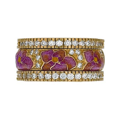 Hidalgo Stackable Rings Flowers Collection Set (RS7939 & RB480)