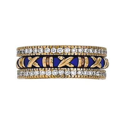 Hidalgo Stackable Rings Bar and X Collection Set (RB4016 & RS6471)