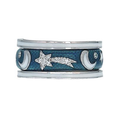 Hidalgo Stackable Rings Moon and Stars Collection Set (RS7481 & RS6906)