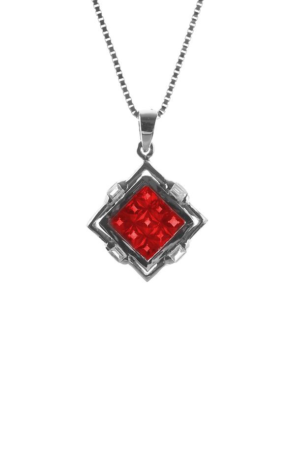 Gideon's Exclusive 18K White Gold Sapphire Pendant