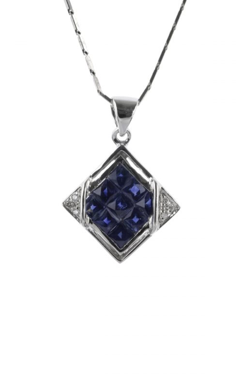 Gideon's Exclusive White Gold Sapphire Pendant