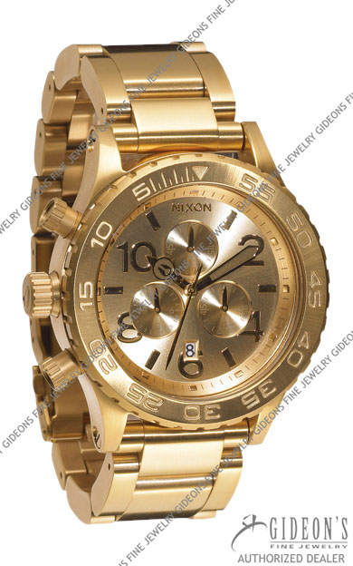Nixon 42-20 Chrono All Gold Quartz Watch A037-502