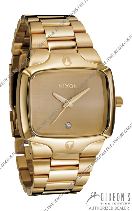 Nixon The Player All Gold Quartz Watch A140-509