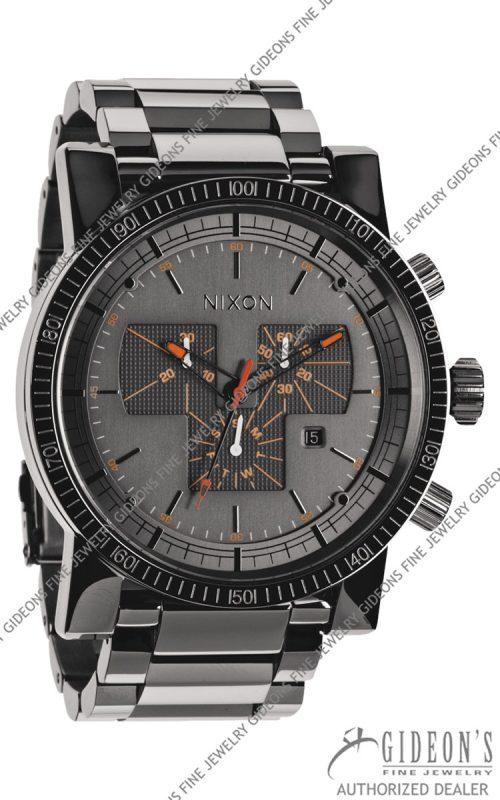 Nixon The Magnacon SS Steel Grey Quartz Chronograph Watch A154-1235