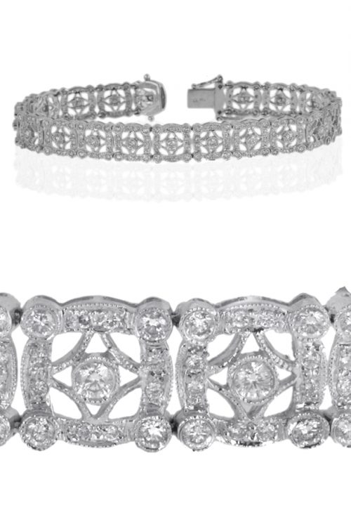Gideon's Exclusive 18K White Gold Diamond Bracelet
