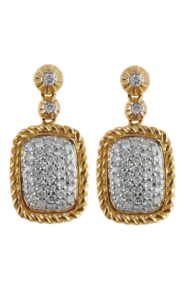 Gideon's Exclusive 14K Yellow Gold Diamond Dangle Earring
