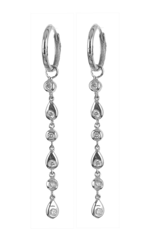 Gideon's Exclusive 18K White Gold Diamond Drop Earring