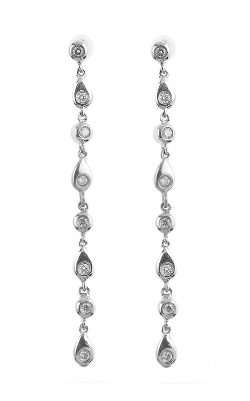 Gideon's Exclusive 14K White Gold Diamond Drop Earring