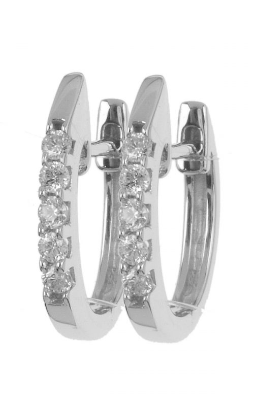 Gideon's Exclusive 18K White Gold Diamond Hoop Earring
