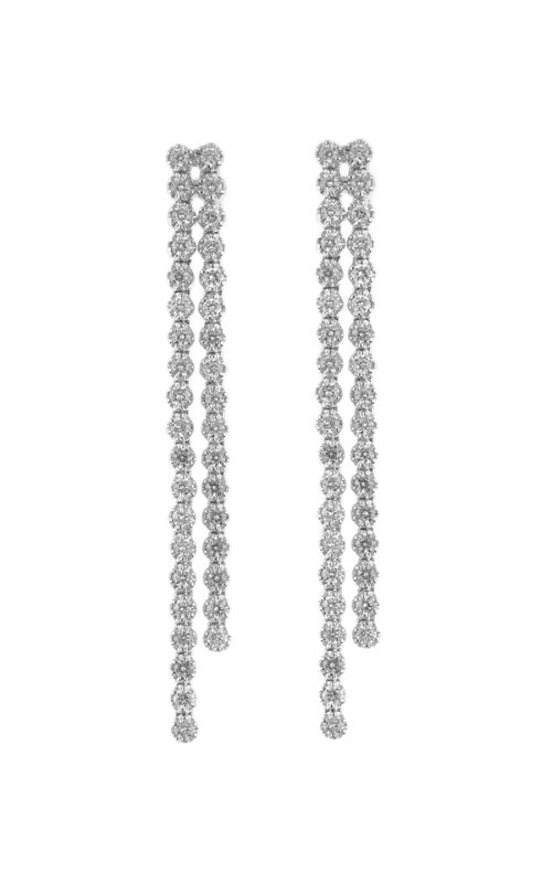 Gideon's Exclusive 18K White Gold Diamond Drop Earring