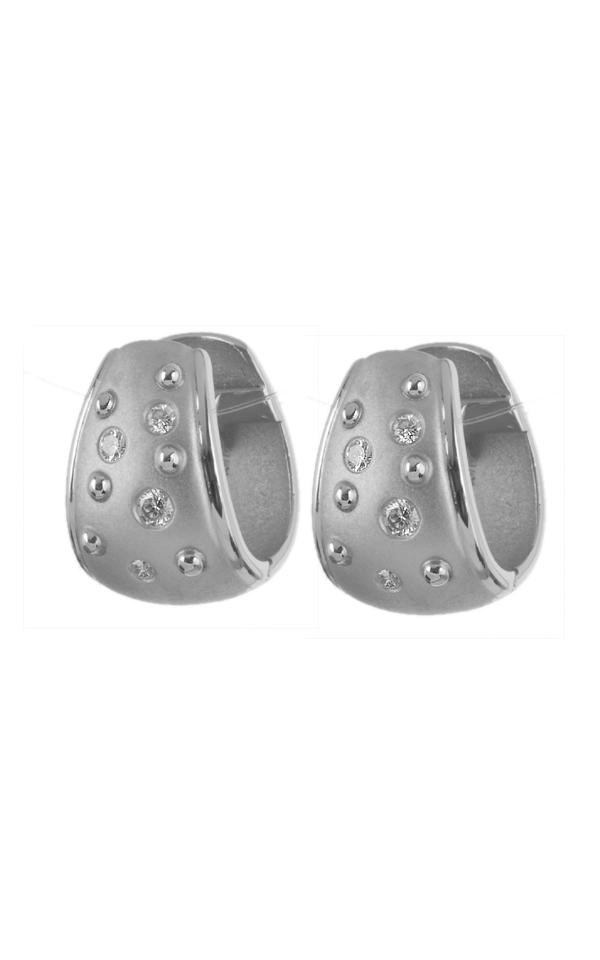 Gideon's Exclusive Platinum Diamond Hoop Earring